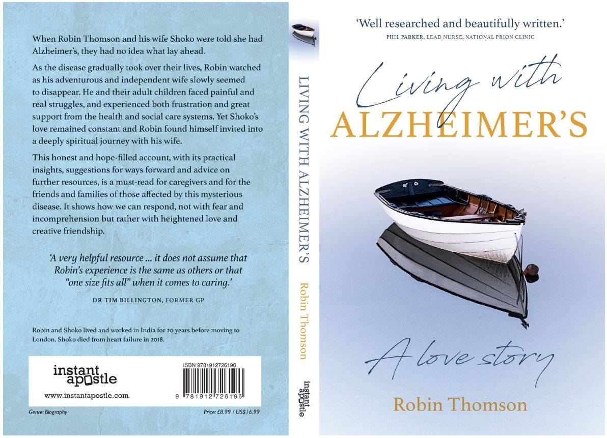 The cover of 'Living with Alzheimer's - a love story' by Robin Thompson