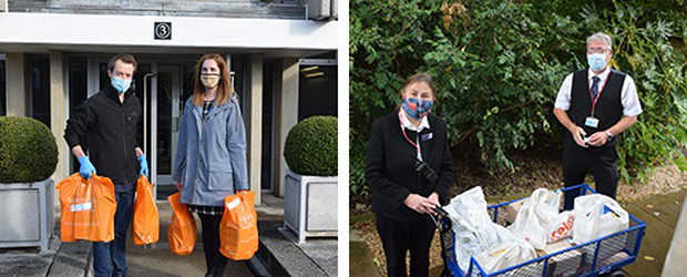 Christ's College staff deliver groceries to isolating students
