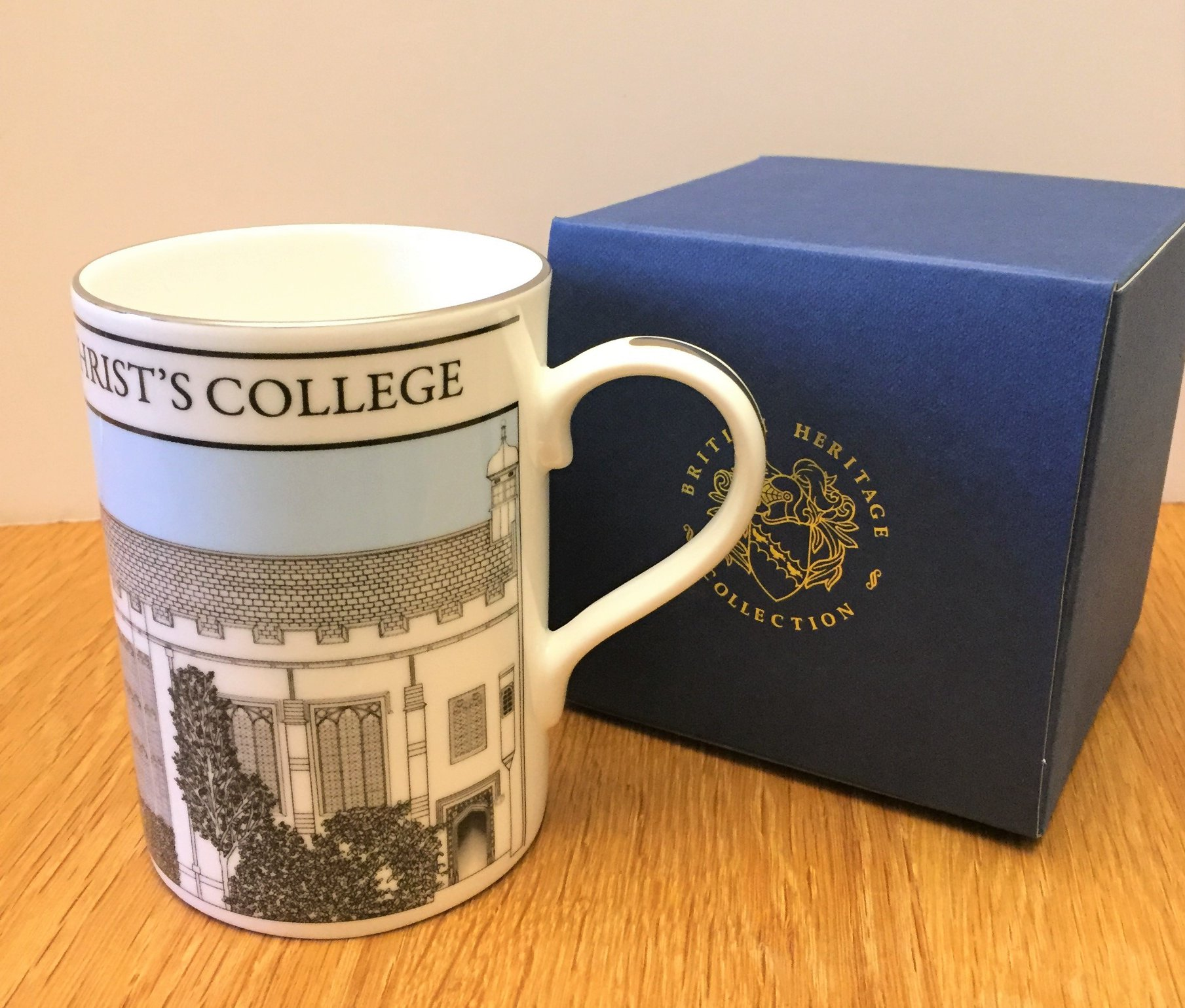 Christ's College mug and display box